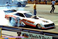Gary Burgin in his Orange Baron Nitro FC at NED NHRA D1 WWCS 8.22.82
